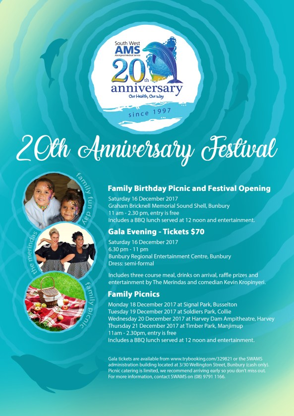 SWAMS 20th Anniversary Festival Flyer A4