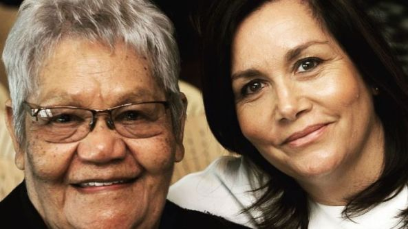 close up photo of faces of Aunty Lorraine Peeters & her daughter Shaanf
