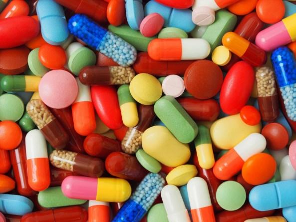 range of multi-coloured pills