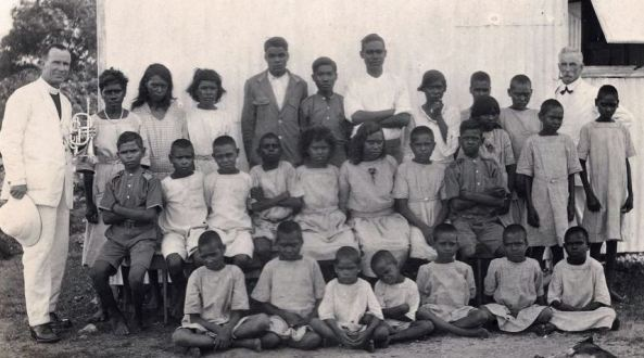 black and white photo of Kahlin Compound, an institution for Indigenous children considered 'half-caste' in 1921