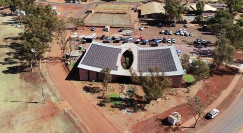 drone photo of the new PAMS clinic in Newman