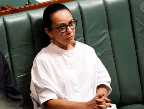 Linda Burney in house or representatives during Morrison's CtG ministerial statement 14.2.19