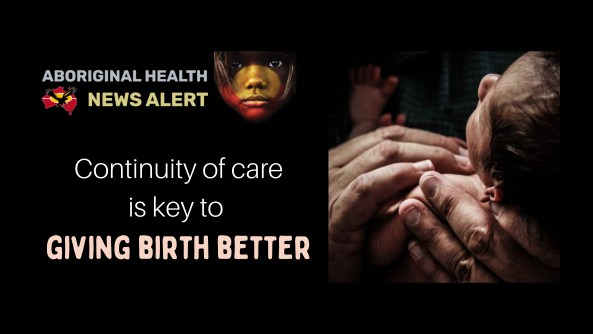 feature tile text 'continuity of care is key to giving birth better', image of newborn baby cradled in the palms of an adults hands