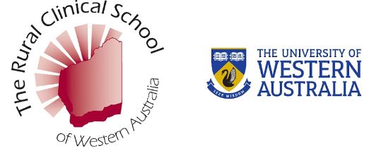 Uni of WA & Rural Clinical School of WA logos