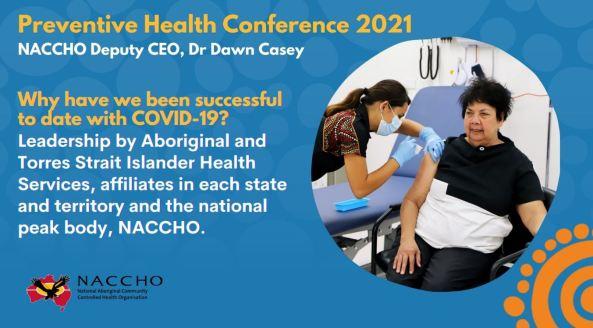 Dawn Casey receiving COVID-19 vaccine