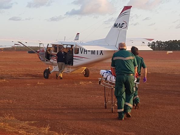 Patient transport by MAF Australia.