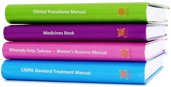 spines of 4 RPHCM suite, green, purple, pink & blue