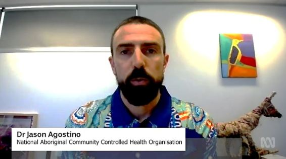 screenshot of ABC interview with Dr Agostino re COVID-19 vaccine supply