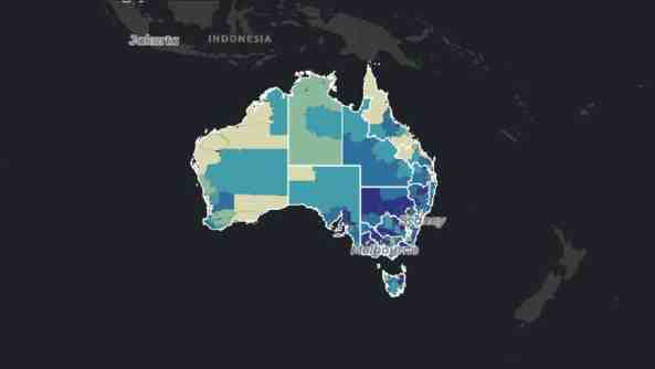 Type 2 diabetes prevalence in Australia. Credit: AIHW 2021.