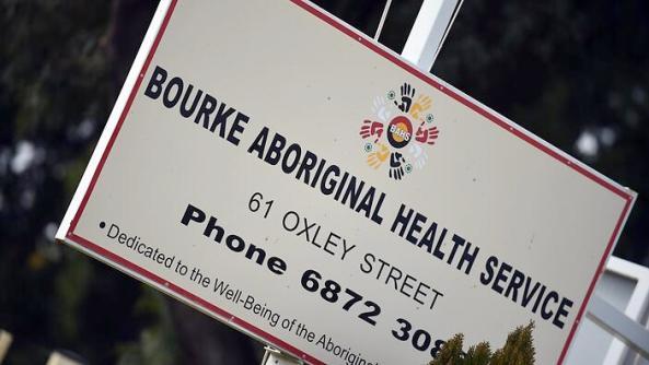 Sign for Bourke Aboriginal Health Service. Image source: NITV website.