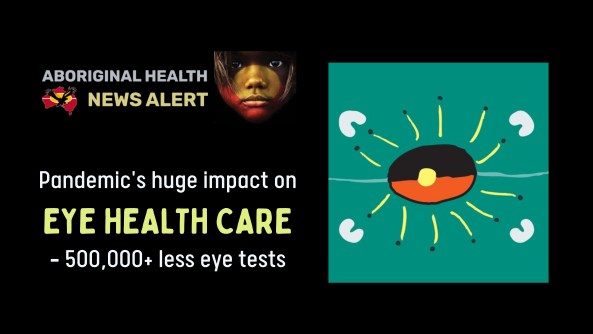 feature tile text 'pandemic's huge impact on eye health care - 500,000+ less eye tests