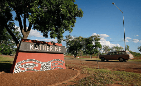 Katherine is used as a service hub by a number of remote outstations and communities. Image source: ABC News - Michael Franchi.