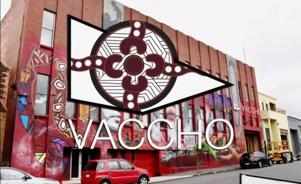 VACCHO building external view, overlaid with VACCHO logo