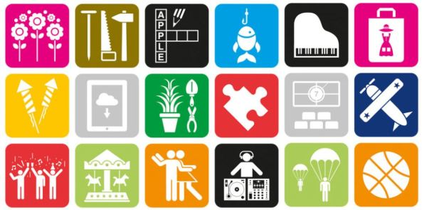 vector images of 18 social activities