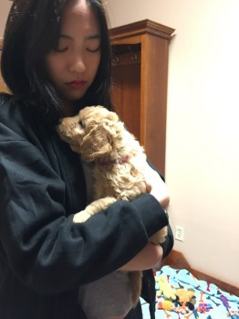 PSP student SoYun with a puppy!