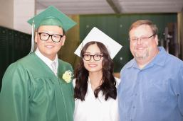 Bill Zinn with Bolun Zhang China and host daughter Jun Liu China graduation