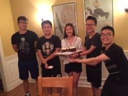 GRADUATES (Lft-Rt) Heng Zhao - McNicholas, Jingjie Lin - Villa Madonna, Jiayi Sun - McNicholas, Haowen Bao - Villa, Zhaowei Chen - McNick