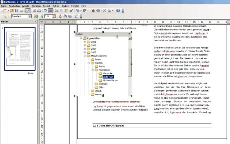 OpenOffice 3 mit PDF Importer