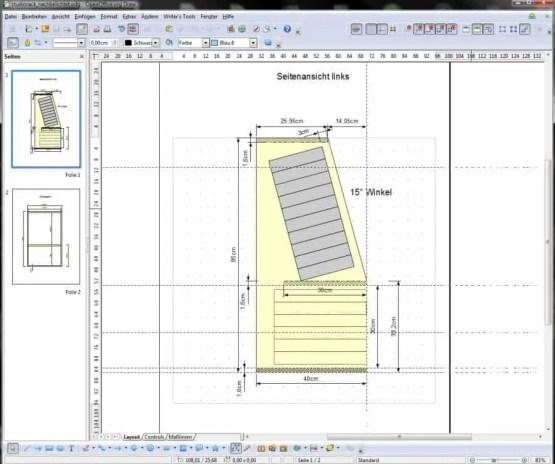 Das Studiorack in OpenOffice Draw