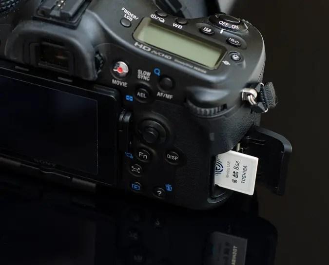 Die Toshiba Flash Air und die Sony SLT-a77V