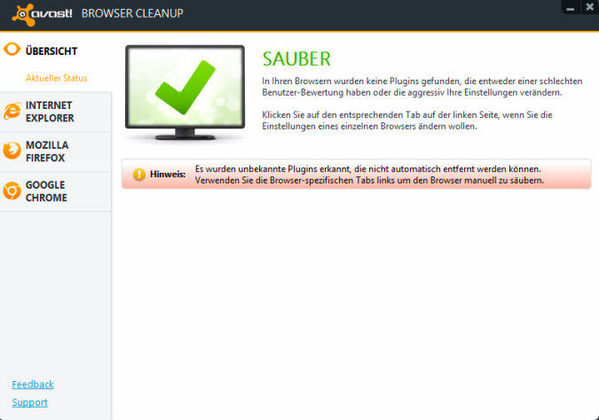 Avast Browser Cleanup Toolre