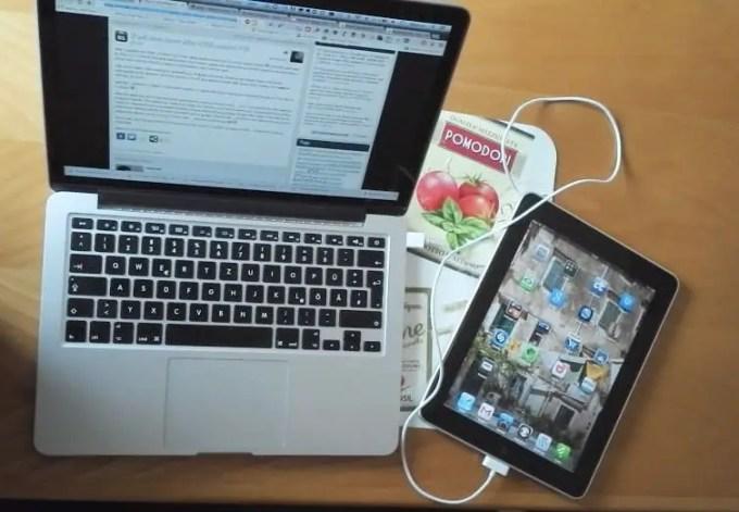 Mein MacBook und das iPad