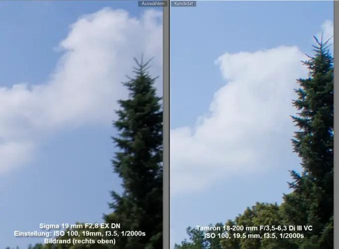 Vergleich Sigma / Tamron am Bildrand