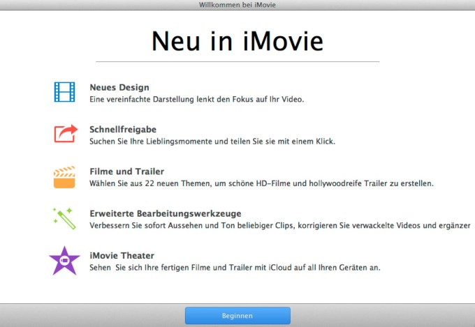 Neues iMovie