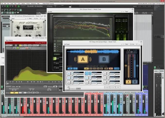 Mix Setup im Master (Reaper 4.5)