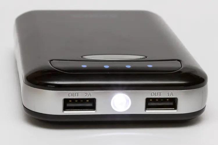 Die Anker E5 Powerbank als Taschenlampe
