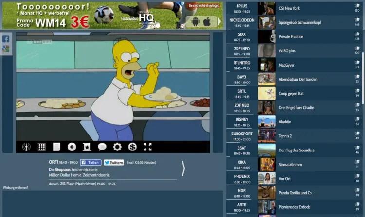 Schöner Fernsehen TV-Streaming