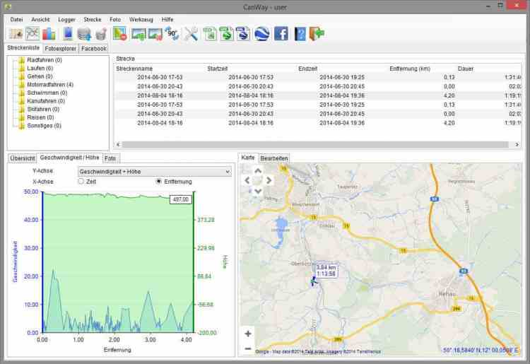 CanWay GPS-Software für den PC