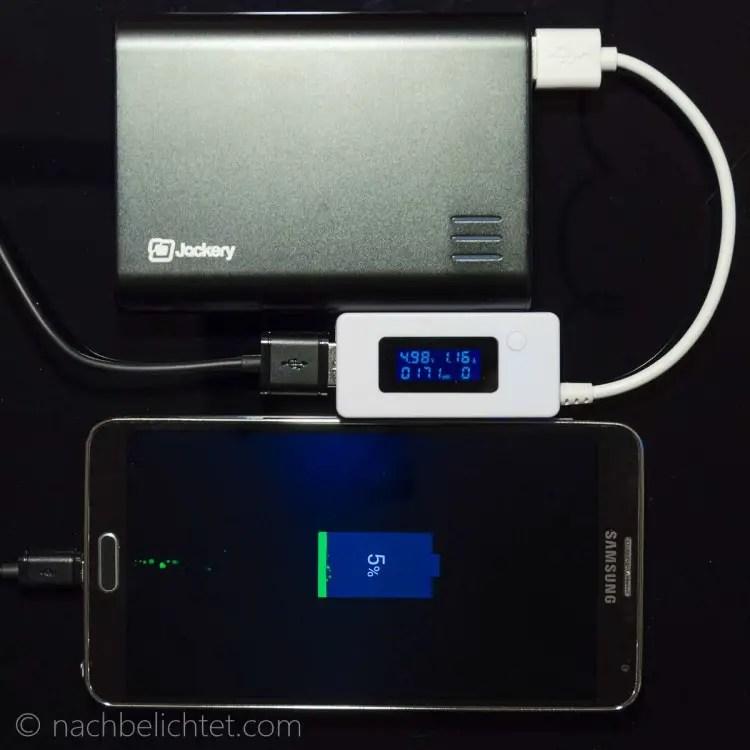 Ladestrom bei einem leeren Samsung Note 3