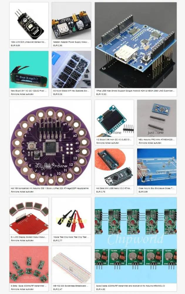 Meine Arduino-Kollektion bei Ebay