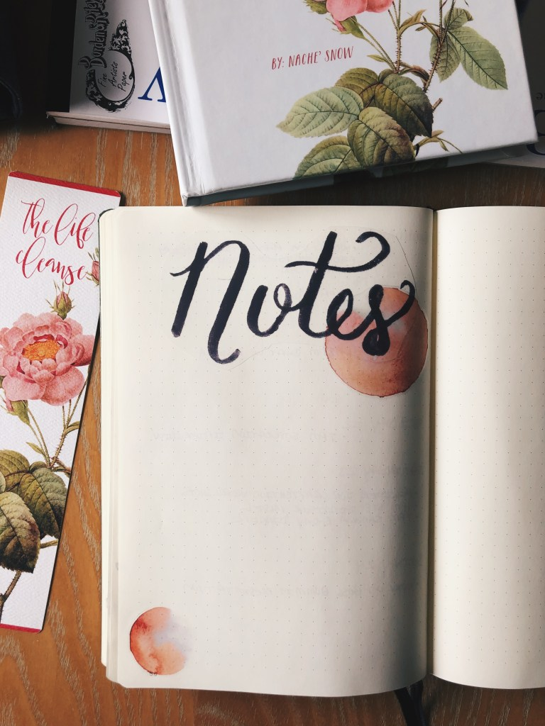 "Free Printable ""Notes"" header sticker for your bullet journal"