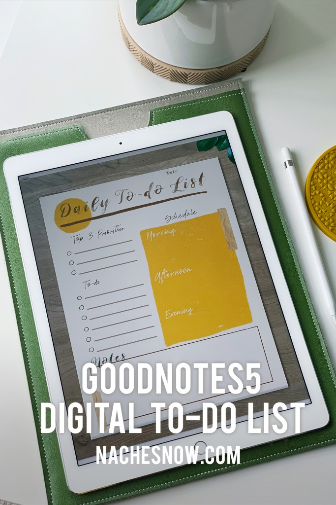 Free Digital To-do List | Digital Planner Sheet