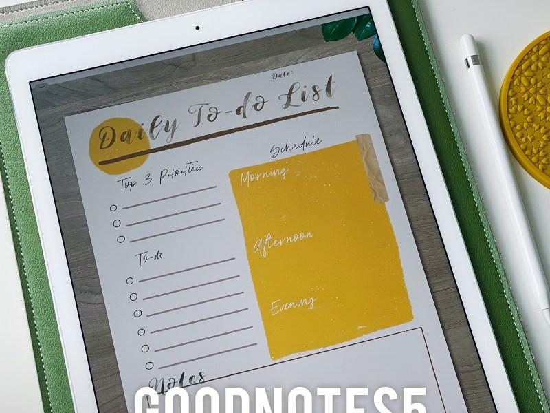 Free Digital To-do List | Digital Planner Sheet