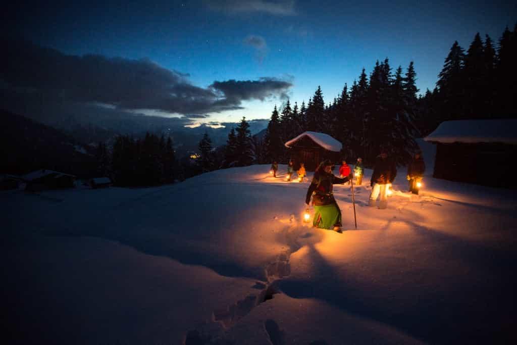 Mondschein-Sagenwanderung im Montafon in Vorarlberg