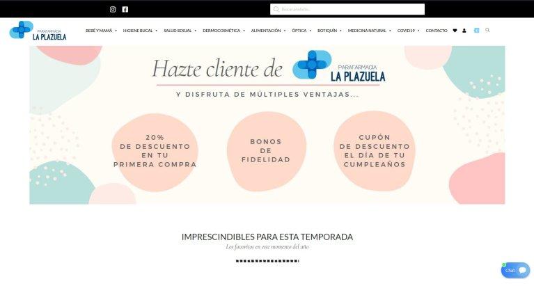 Tienda Online Parafarmacia La Plazuela