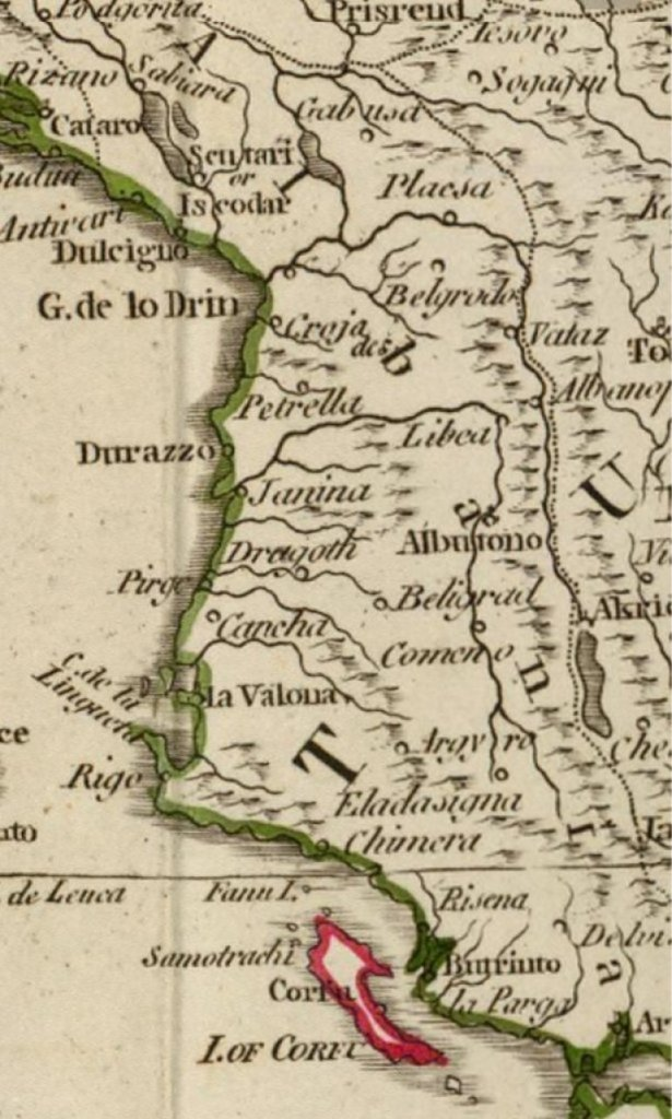 ДА СЕ ПРИСЕТИМО ЧИЈА ЈЕ ЗАИСТА АЛБАНИЈА! Kарта из 1795. демантује све... Ово нам неће помоћи, али истина мора да се зна! 1