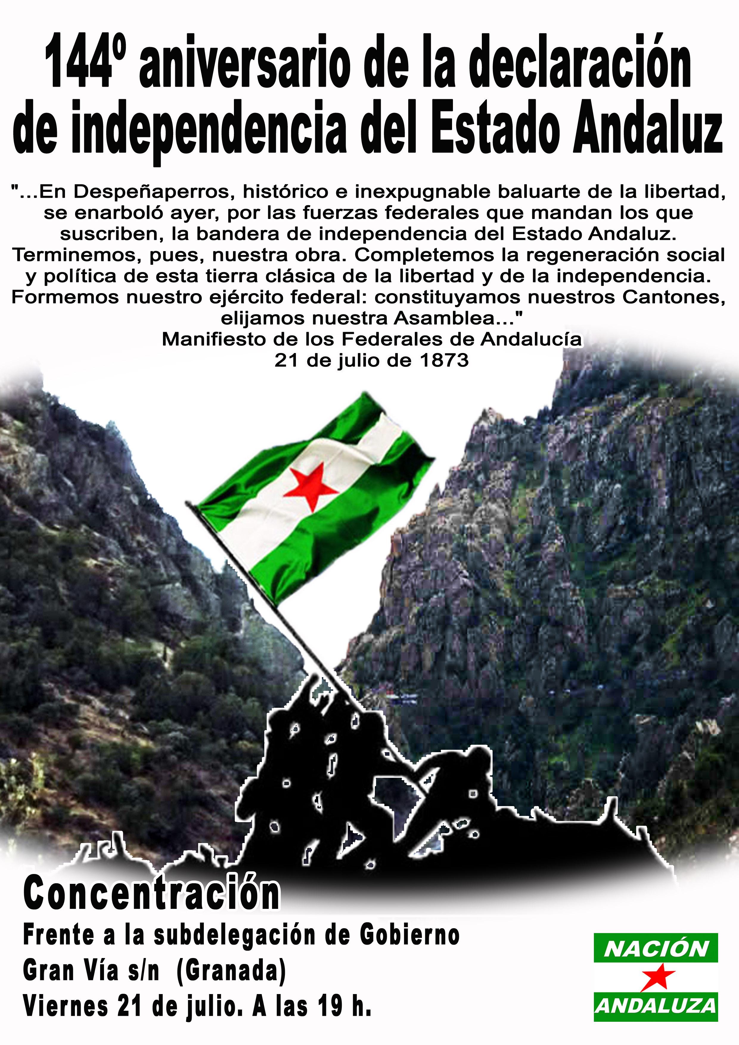 Nación Andaluza ante el 144º aniversario del manifiesto de los Federales Andaluces
