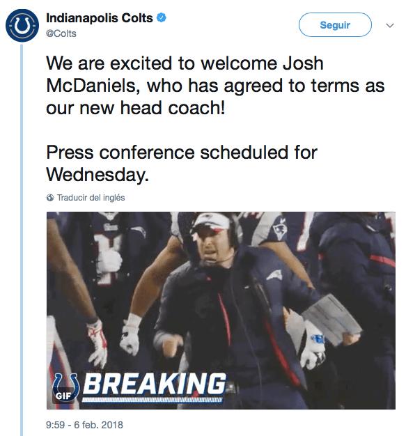 McDaniels le dice que no a los Colts