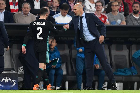 Cristiano Ronaldo y Carvajal regresaron a los entrenamientos del Real Madrid