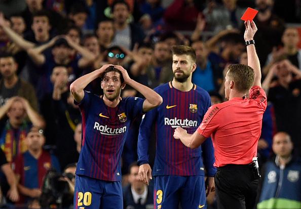 Sergi Roberto fue sancionado cuatro partidos