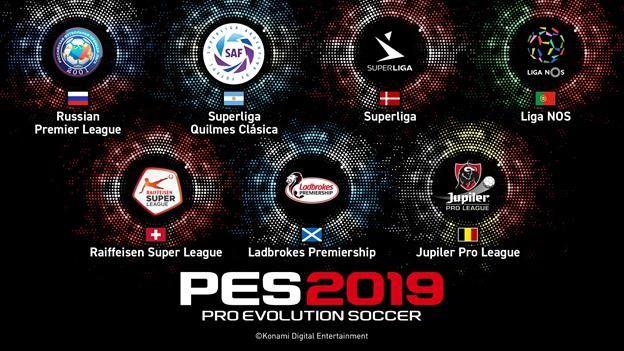 Las nuevas Ligas que estarán presentes en el PES 2019