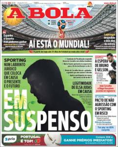 Portadas de los diarios deportivos del 14 de junio de 2018
