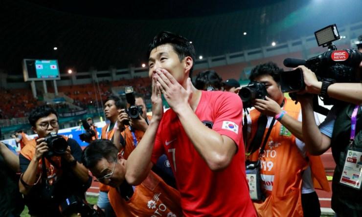 Heung-Min logró la medalla de oro