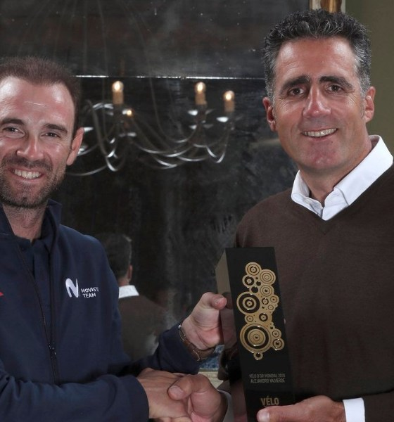 Valverde recibió el Vélo d'Or 2018