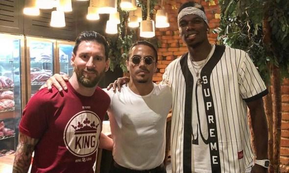 Messi y Pogba visitaron al famoso chef