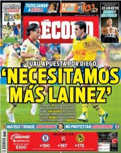 Cuauhtémoc Blanco dijo en una entrevista a este diario que América necesita más Diegos Lainez en la plantilla. (Récord)